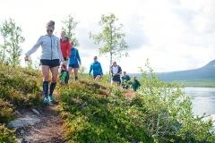 Voor de start van de Kungsfjäll Trail