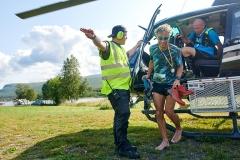 Na de landing met de helikopter in Jäkkvik